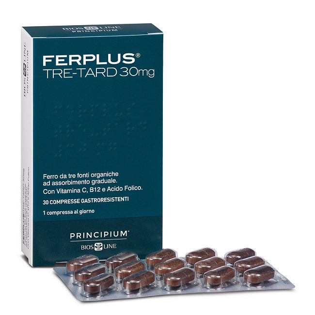 offerta Bios Line Principium Ferplus Tre Retard 30mg 30 Compresse Gastroresistenti