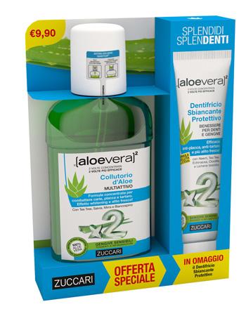 Zuccari Aloevera2 Collutorio 250 Ml + Dentrificio 100 Ml Offerta Speciale