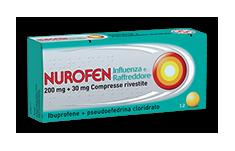 Nurofen Influenza Raffr 200 Mg + 30 Mg Compresse Rivestite 12 Compresse Rivestite
