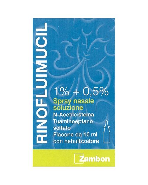 Rinofluimucil 1% + 0,5% Spray Nasale Soluzione Flacone 10 Ml
