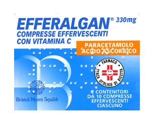 Efferalgan 330 Mg Compresse Effervescenti Con Vitamina C 20 Compresse