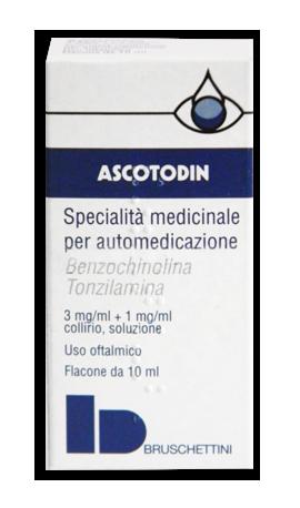 Ascotodin 3 Mg/Ml + 1 Mg/Ml Collirio, Soluzione