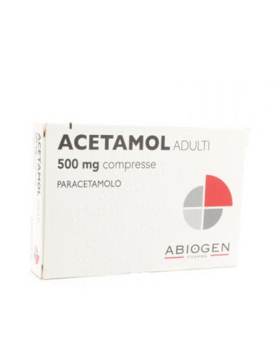 Acetamol Adulti 500 Mg Compresse 20 Compresse