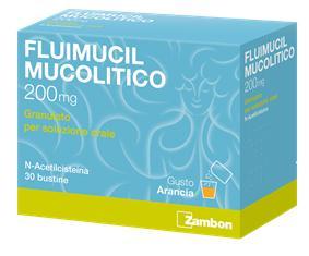 Fluimucil Mucol 200 Mg Granulato Per Soluzione Orale 30 Bustine
