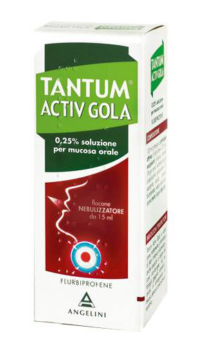 Tantum Verde Gola 250 Mg 100 Ml Spray Per Mucosa Orale  Soluzione 15 Ml