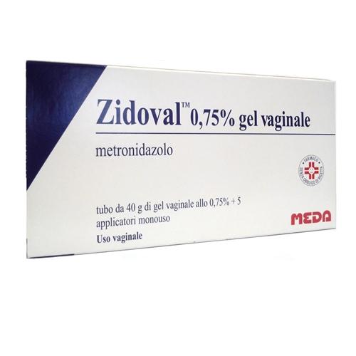 Zidoval 0 75% Gel Vaginale Tubo Al Da 40 G Con 5 Applicatori
