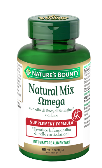nature's bounty natural mix omega integratore in perle
