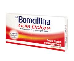 NeoBorocillina Gola Dolore Gusto Menta Senza Zucchero 16 Pastiglie
