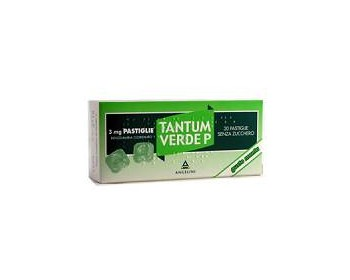 Tantum Verde P 3 Mg Gusto Menta 20 Pastiglie