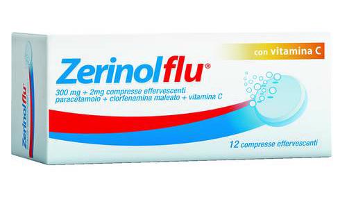 ZerinolFlu con Vitamina C 12 Cpr Effervescenti