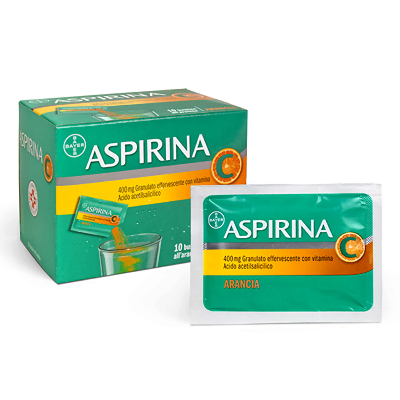 Aspirina C Gusto Arancia 400 Mg 10 Bustine