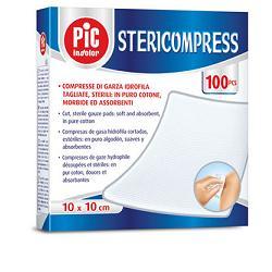 Pic Stericompress Compresse Garza Cotone Sterili 10x10Cm 25Pz