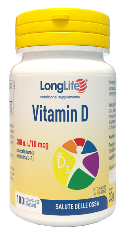 LongLife Vitamina D3 400 UI 100 Cpr