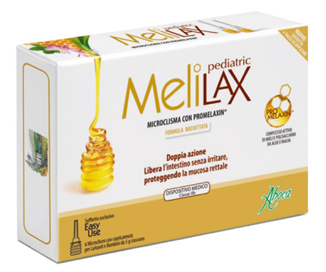 Melilax Lattanti e Bambini 6 Microclismi 5 g