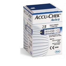 Accu-Chek Aviva 25 Strisce Test Glicemia