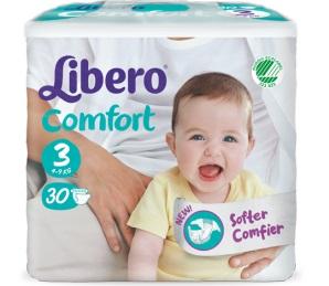 Libero Comfort Mis 3 4-9Kg 30Pz