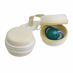 Chicco Porta Succhietto Clip Clap 2Pz 0m+ Disponibile Verde/Bianco