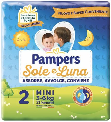 Pampers Sole & Luna Mis 2 Mini 3-6Kg 21Pz