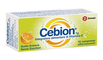 Cebion Vitamina C 1G 10 Cpr Effervescenti Gusto Arancia Senza Zucchero