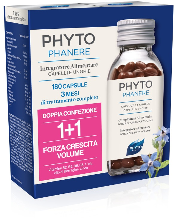 Phyto Phytophanere 1+1 Capelli e Unghie 180 Cps