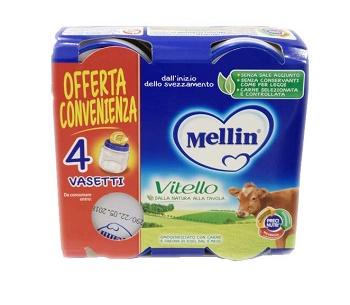 Mellin Omogeneizzato Vitello 4X80G dal 4�Mese