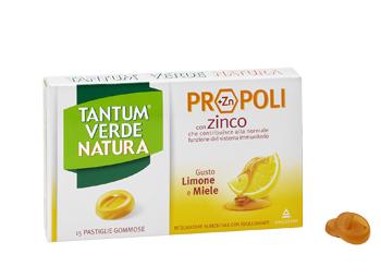 Tantum Verde Natura Gusto Limone e Miele 15 Pastiglie Gommose