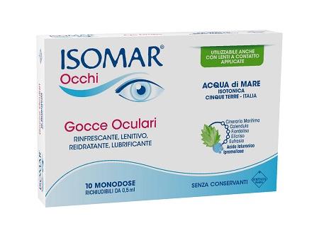 Isomar Occhi Acido Ialuronico 0.2 % 10 Flaconcini Monodose 0.5 ML