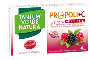 Tantum Verde Natura Gusto Frutti di Bosco 15 Pastiglie Gommose