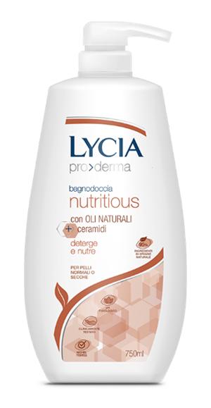 Lycia Pro Derma Bagnodoccia Nutritious Pelli Normali e Secche 750 Ml