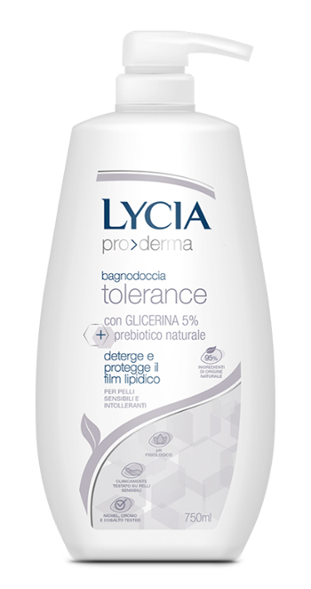 Lycia Pro Derma Bagnodoccia Tolerance Pelli Sensibili 750 Ml