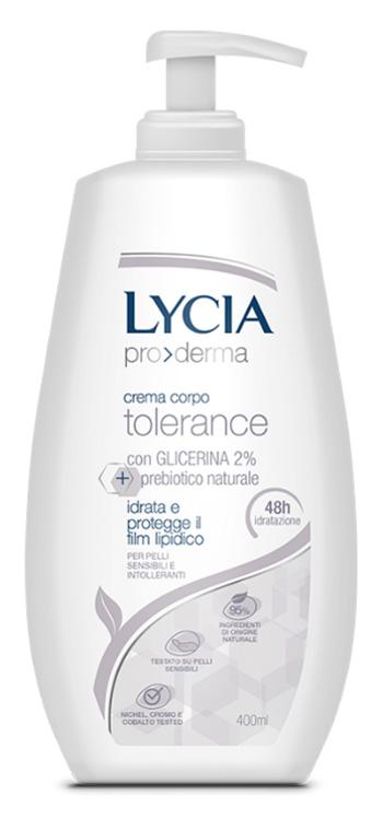 Lycia Pro Derma Crema Corpo Tolerance Pelli Sensibili 400 Ml