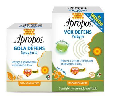 Apropos Gola Defens Forte Spray + Vox Defens 5 Pastiglie