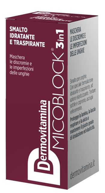 Dermovitamina Micoblock 3 in 1 Smalto Idratante e Traspirante Bordeaux 5 Ml