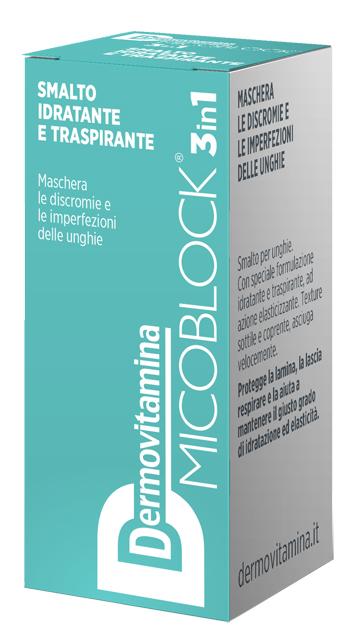 Dermovitamina Micoblock 3 in 1 Smalto Idratante e Traspirante Turchese 5 Ml