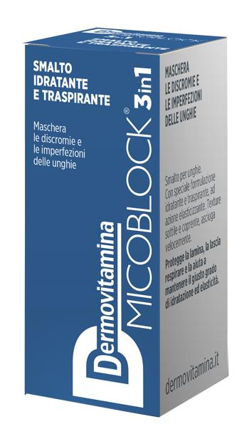 Dermovitamina Micoblock 3 in 1 Smalto Idratante e Traspirante Blu 5 Ml