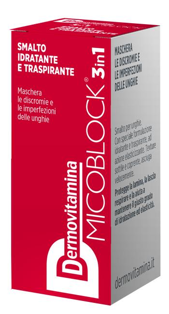 Dermovitamina Micoblock 3 in 1 Smalto Idratante e Traspirante Rosso 5 Ml