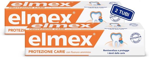 Elmex Dentifricio Protezione Carie 2 Tubi 75 Ml