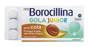 NeoBorocillina Gola Junior Gusto Cola 15 Pastiglie