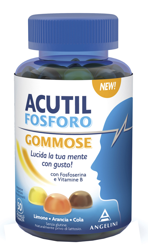 Acutil Fosforo 50 Caramelle Gommose Gusto Arancia Cola Limone
