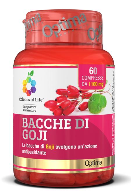 Optima Naturals Colours Of Life Bacche Di Goji 60 Compresse 1100 Mg