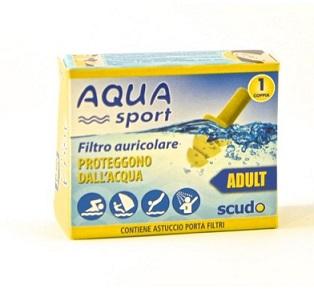 Pasquali Filtro Auricolare Per Adulto Earplug Scudo Aquasport 2 Pezzi