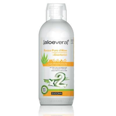 Zuccari Aloevera2 Succo Puro Aloe Doppia Concentrazione + Enertonici 1 Litro