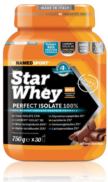 Named Sport Star Whey Perfect Isolate Sublime Chocolate 750g