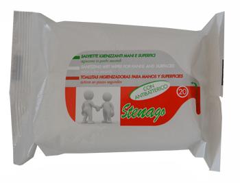 Sterilfarma Salviettine Igienizzanti Mani superfici Con Antibatterico 20 Pezzi