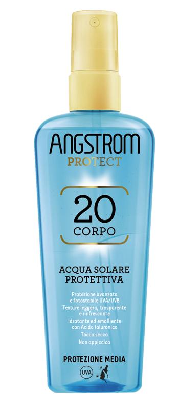 Angstrom Protect Acqua Solare Protettiva Corpo Spf 20 Protezione Media 140 ml