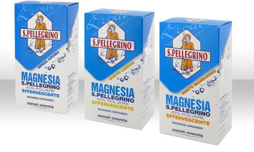 Magnesia S.Pell 45% Polvere Effervescente Gusto Limone Flacone 100 G