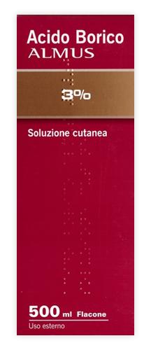 Acido Borico Alm 3% Soluzione Cutanea Flacone 500 Ml