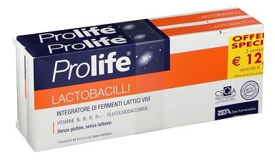 Zeta Farmaceutici Prolife Lactobacilli Due Confezioni Da 7 Flaconcini Da 8 Ml