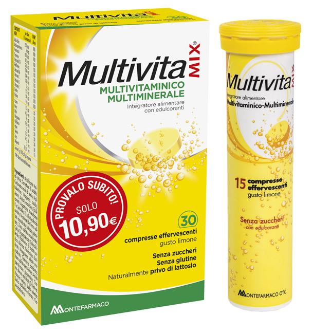 Montefarmaco Otc Multivitamix Effervescente Senza Zucchero E Senza Glutine 30cpr