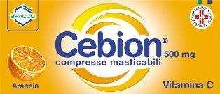Cebion 500 500 Mg Compresse Masticabili 20 Compresse Masticabili All'arancia